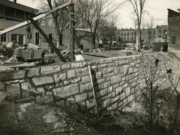 Reconstructing a retaining wall in Glens Falls