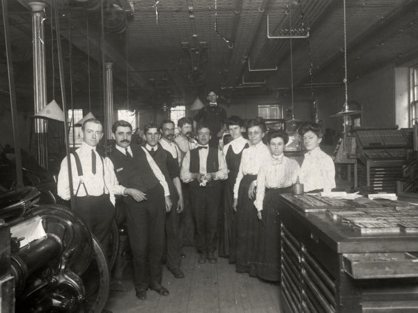 Group portrait of Morning Star workers in Glens Falls