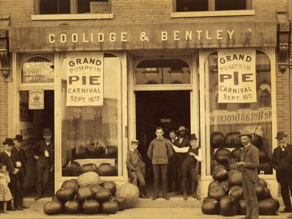 A group outside the Coolidge and Bentley Store in Glens Falls