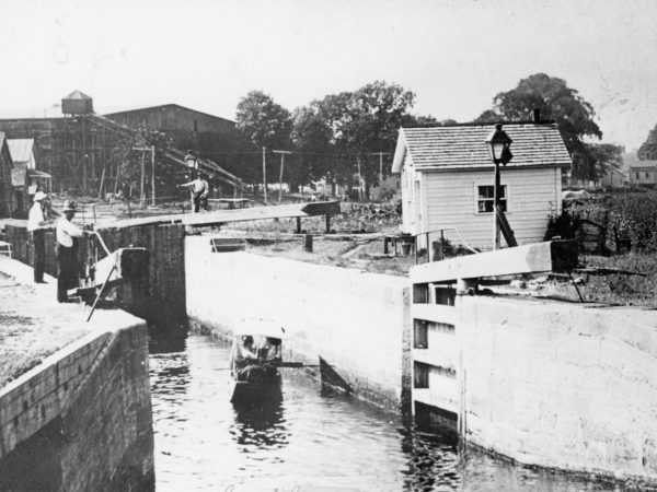 The Champlain Canal lock at Northumberland