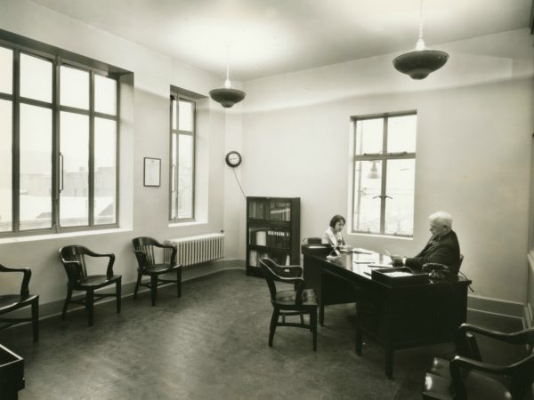 Inside the office of the Electric Light Building in Glens Falls
