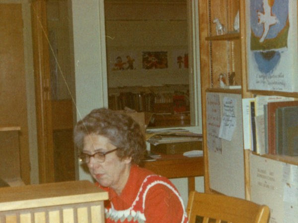 Librarian Zaidee Trumbull at the Keene Valley Library