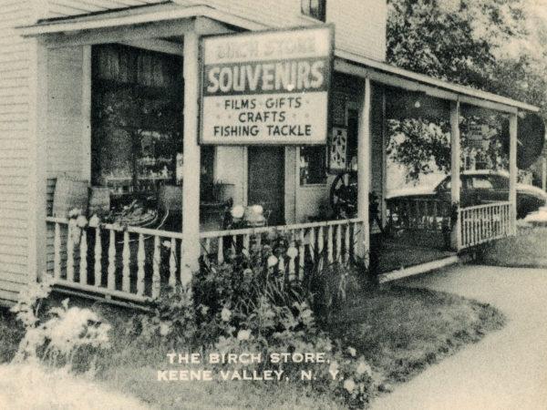 Outside the Birch Store in Keene Valley
