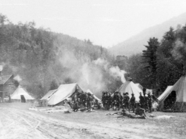 Soldiers encampment near Keene Valley