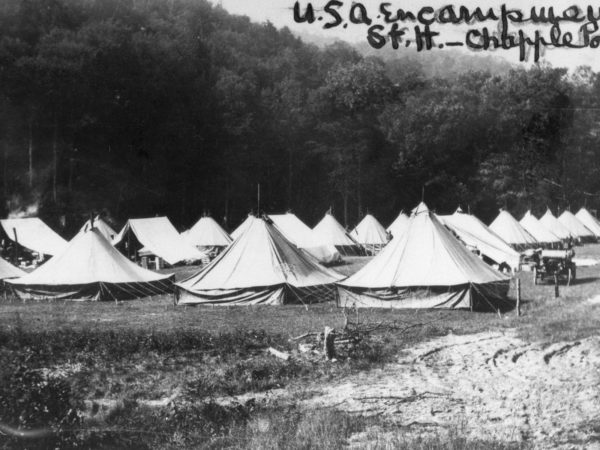 View of the soldiers encampment in Keene Valley