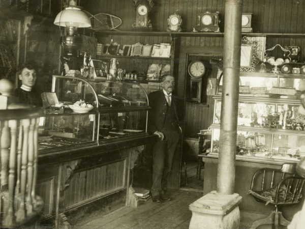 The interior of McFarland's store in Keene Valley