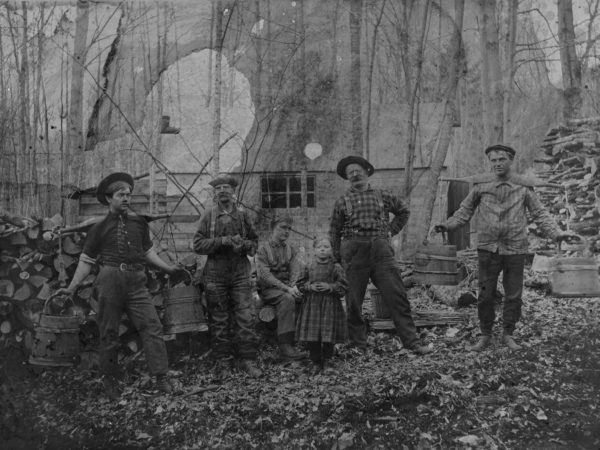 Group in front of the Beede sugar house