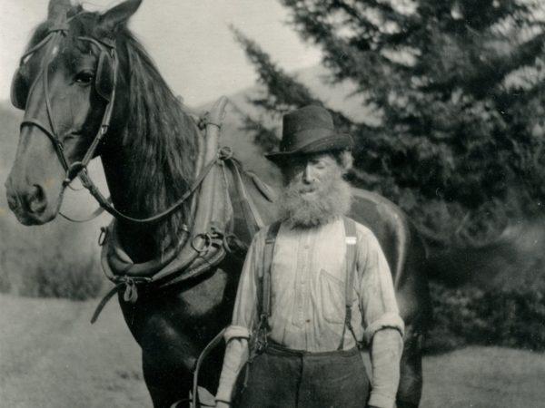 Farmer Samuel Taylor in Keene Valley