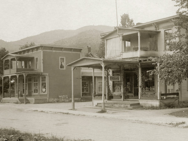 The exterior of Estes Bros. Grocery Store in Keene Valley