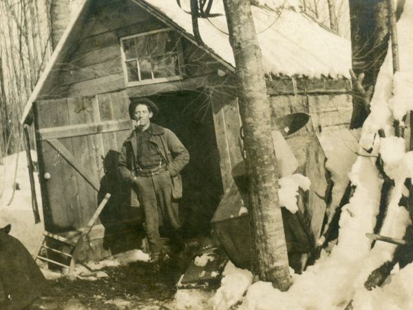 Sugaring at an unknown camp in Keene Valley