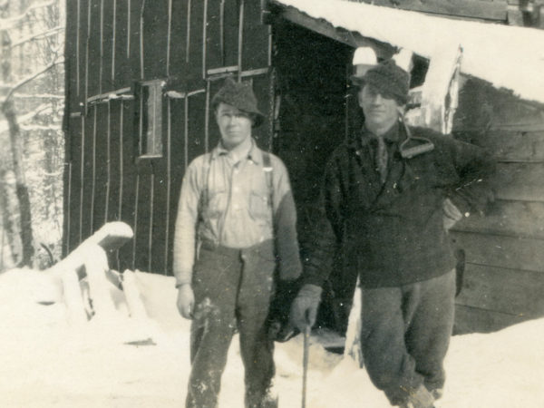 Stanley and Edwin Hall at Lumber Camp III