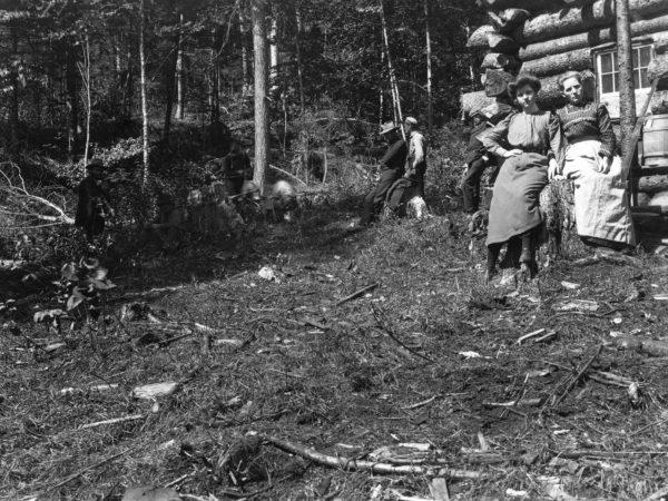 Two women at Hulls Lumber Camp