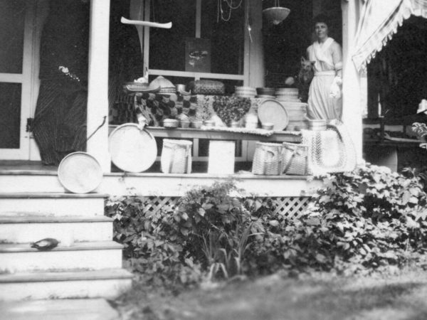 The porch of the Women's Exchange in Keene Valley