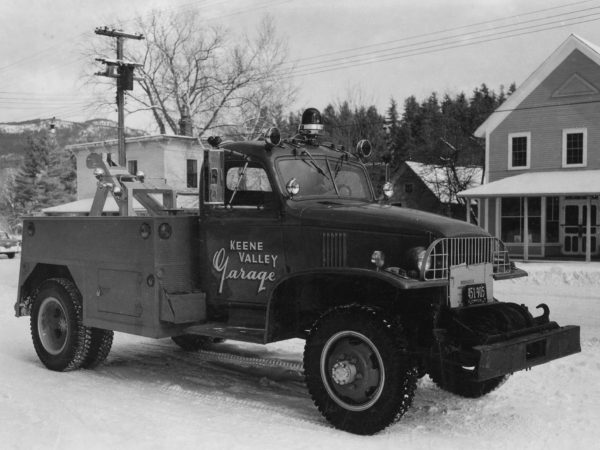 The Keene Valley Garage's first tow truck