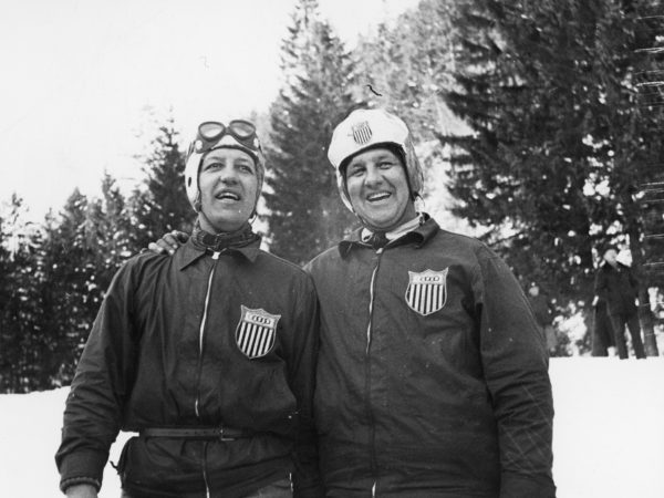 Olympic athletes at the 1936 winter games