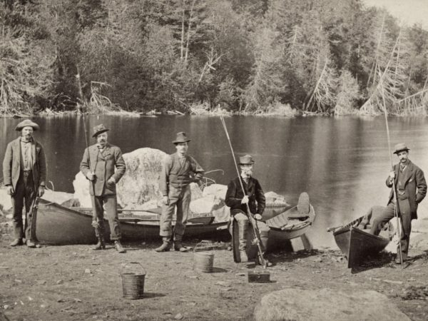 Guides with their boats in Keene Valley