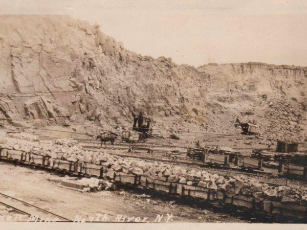 Garnet mine in in North River