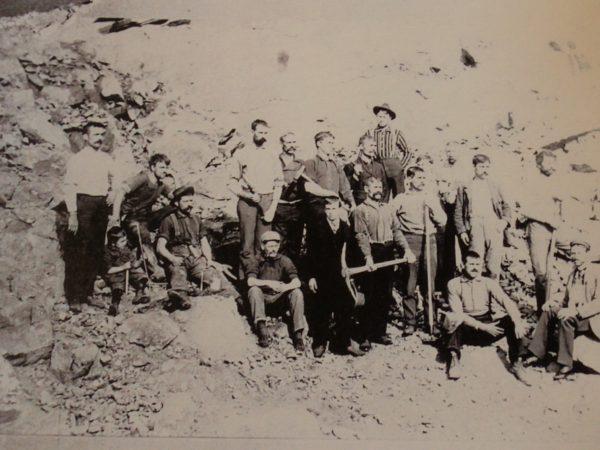 Miners at Hoopers Mine in Johnsburg on break