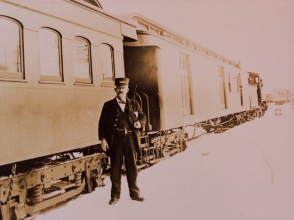 The conductor of the Winter Sports Excursion Train in North Creek