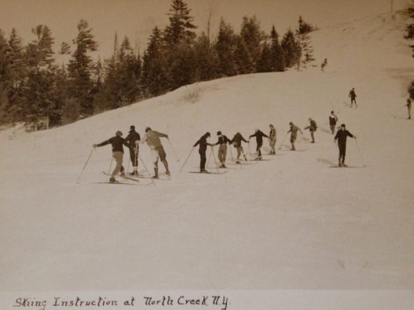 Ski instructor teaching a lesson at Little Gore Mountain