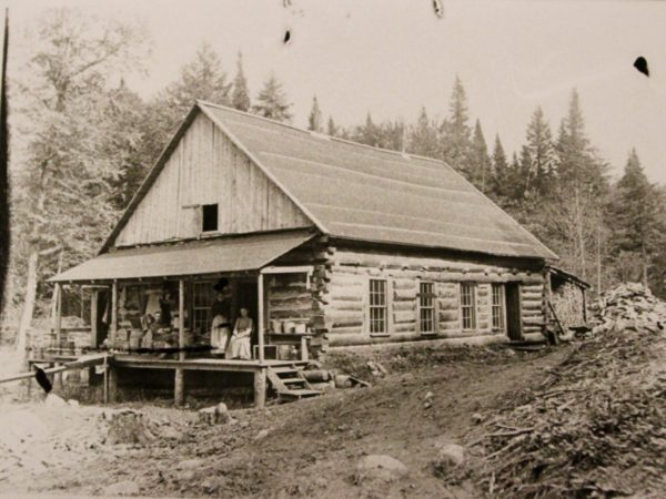 Robert Bibby's Lumber Camp in Chester
