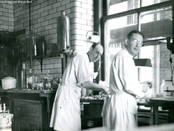Lab technicians in the Saranac Laboratory