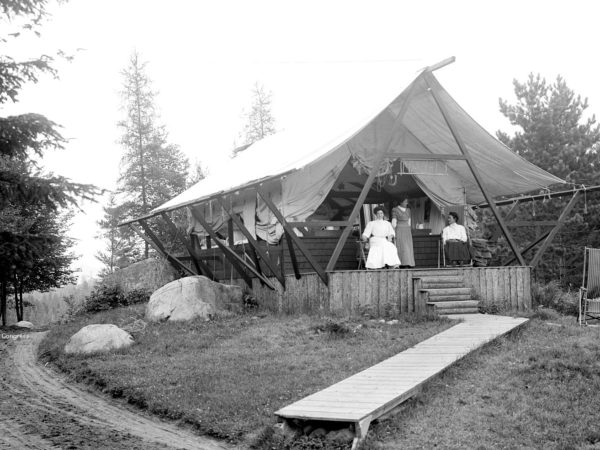 A house tent at the state sanatorium in Ray Brook