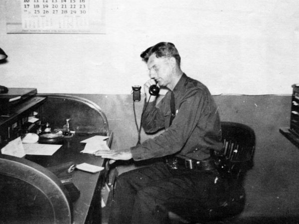 Police Chief William J. Wallace in Saranac Lake