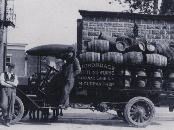 Deliverymen for the Adirondack Bottling Works in Saranac Lake