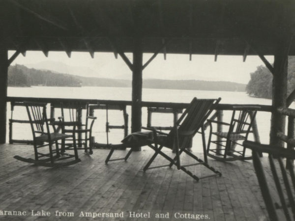 View from the Hotel Ampersand boat house in Saranac Lake