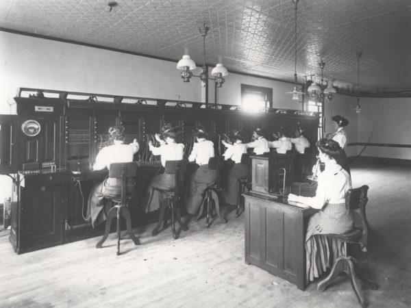 Telephone operators in Saranac Lake