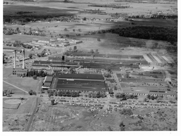 Aerial view of the New York Air Brake Company in Watertown