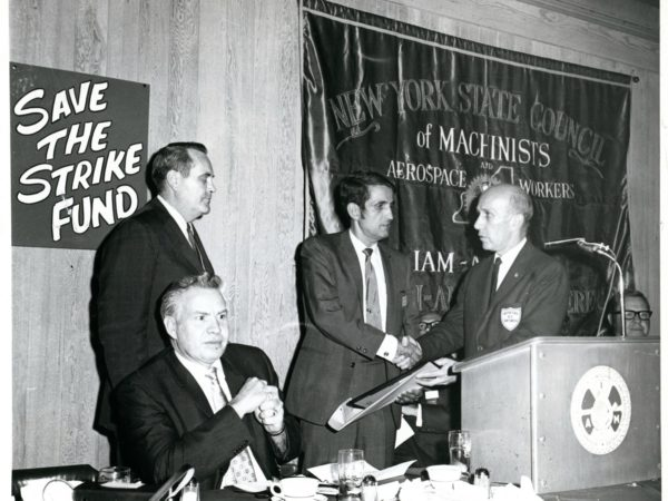 A union dinner for the New York Air Brake Company in Watertown