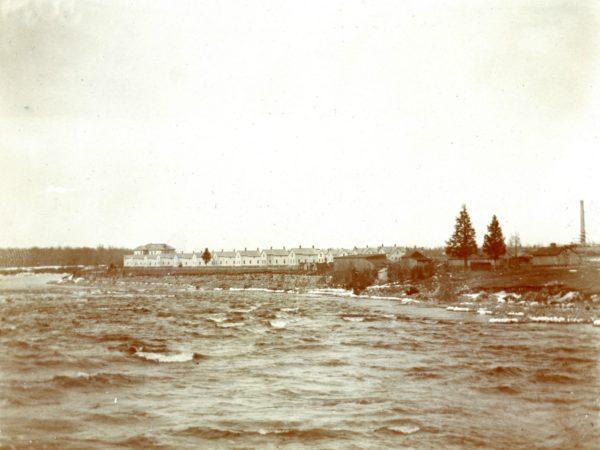 A view of the St. Regis Mills village in Deferiet