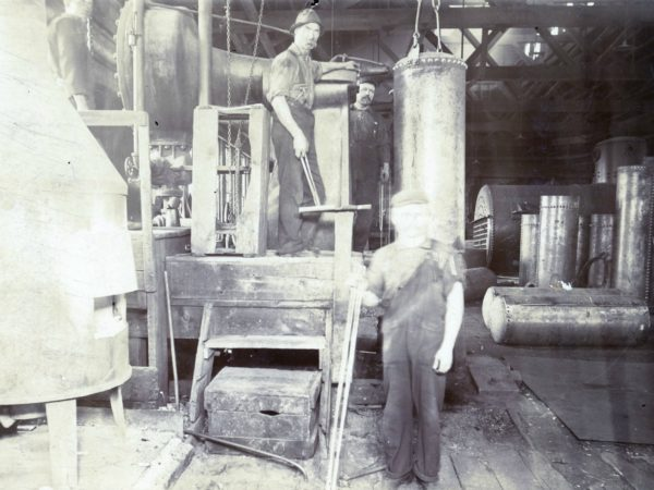 In the boiler shop of the Watertown Steam Engine Company