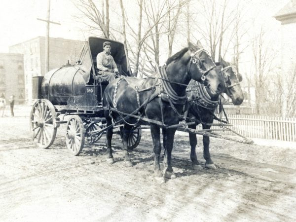 A Standard Oil Company delivery in Watertown