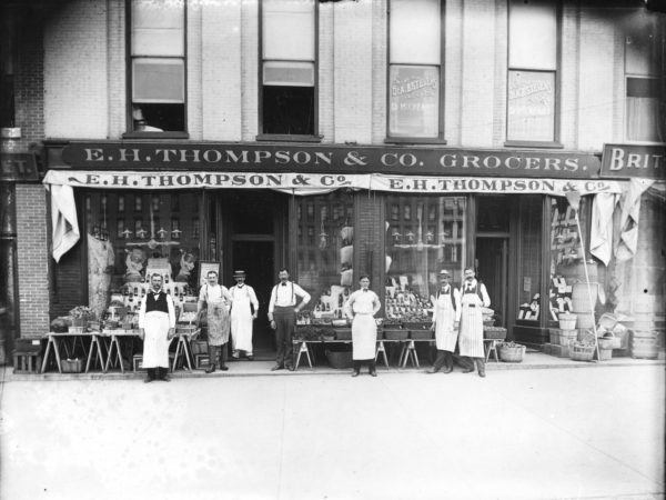 Exterior of E.H. Thompson & Company Grocers in Watertown