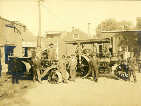 City road crew with steam equipment in Watertown