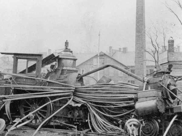 A locomotive explosion in Watertown