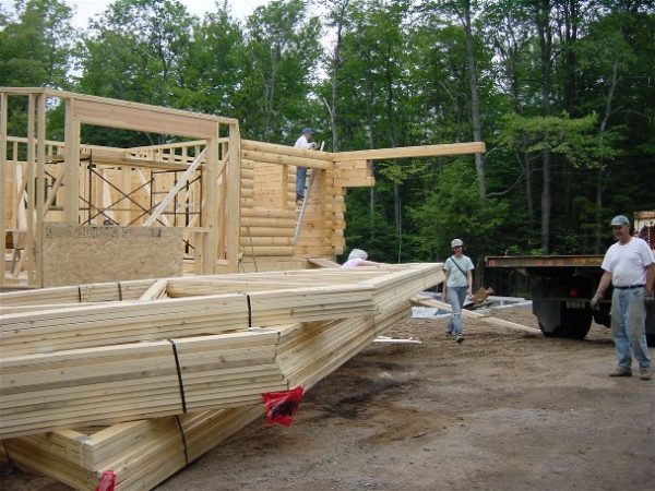 Constructing the Pack Basket Lodge in Wanakena