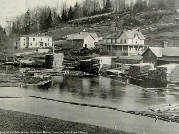 Pliny Miller's sawmill and grist mill in Saranac Lake