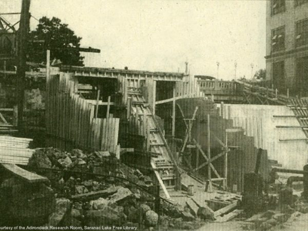 Rebuilding the Lake Flower dam in Saranac Lake