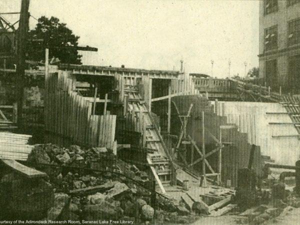 Rebuilding the Lake Flower dam in Saranac Lake