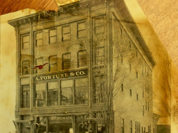 An advertisement for A. Fortune and Company in Saranac Lake