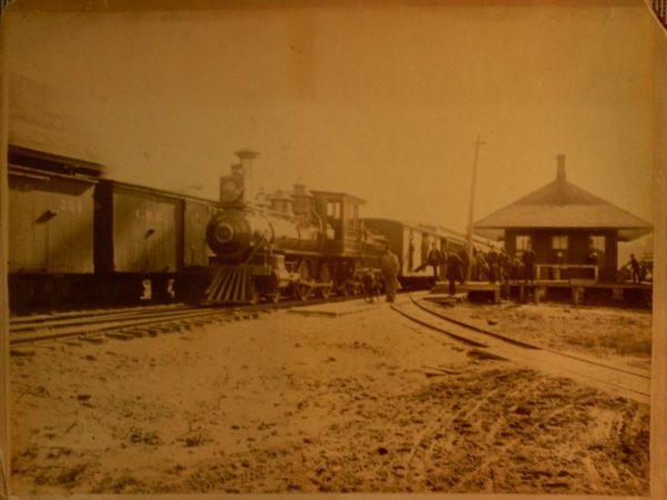 The train station in Saranac Lake