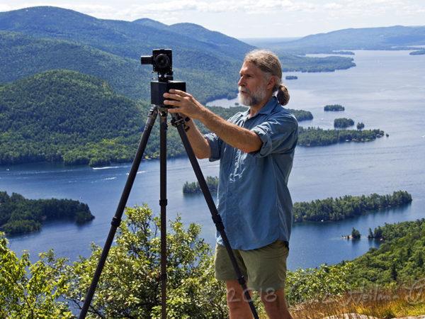Photographer Carl Heilman on First Peak in Lake George