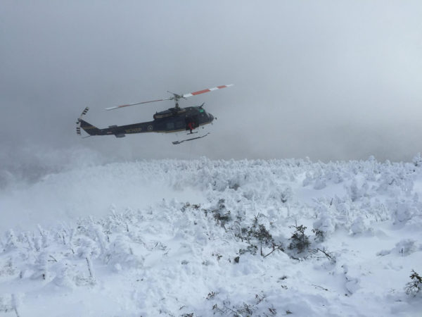 DEC helicopter search for missing hikers