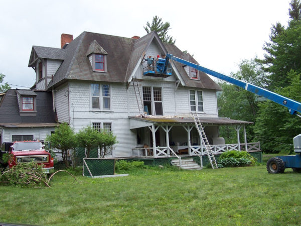 House painter Marcy Neville in Keene Valley
