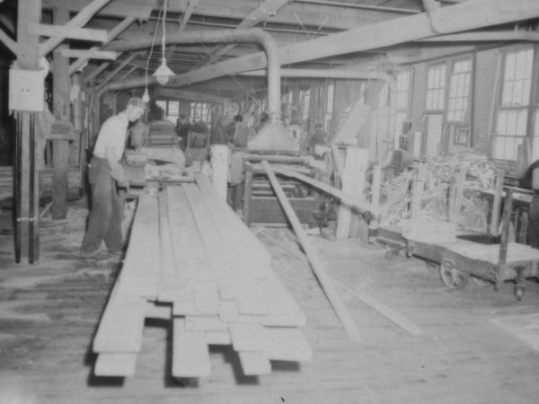 Inside the Braman Manufacturing Company sawmill in Carthage
