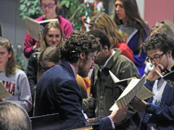 Choir Director Drew Benware at Saranac Lake High School in Saranac Lake